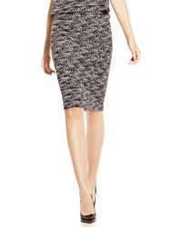 Vince Camuto Speckled Pencil Skirt - Lyst
