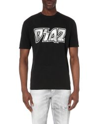 DSquared² Branded Cotton-Jersey T-Shirt - For Men - Lyst