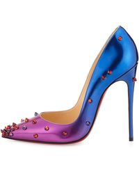 Christian Louboutin - Degraspike Patent Red Sole Pump - Lyst