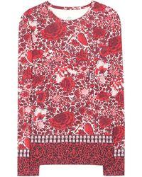 Tory Burch Jasmine Printed Top - Lyst