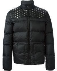 Saint Laurent Studded Padded Jacket - Lyst