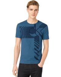 Calvin Klein Blue Strata Tshirt - Lyst