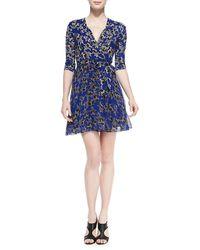 Diane Von Furstenberg Irina Star-print Wrap Dress - Lyst
