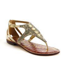 Sam Edelman Galvin Embellished Leather Sandals - Lyst