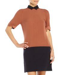 Victoria Beckham Color Block Dress - Lyst