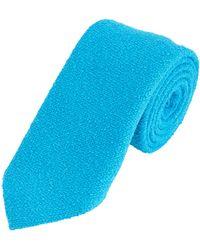 Barneys New York Boucle Tie blue - Lyst