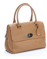 Mulberry Brown Leather 'Del Rey' Top Handle Bag - Lyst
