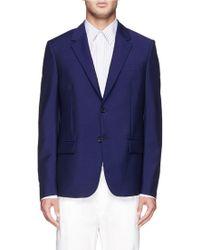 Alexander McQueen Virgin Wool-Mohair Blazer blue - Lyst