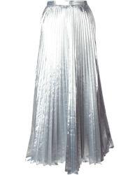 DKNY Pleated Maxi Skirt - Lyst