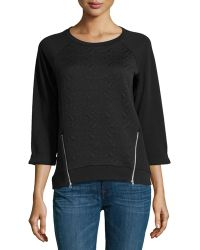 Dex Long-Sleeve Textured Sweater - Lyst