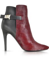 Proenza Schouler Bordeaux Kebir Haircalf And Rubber Ankle Boot - Lyst