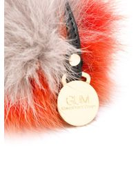 Gum - Fox Fur Pom-pom Keyring - Lyst