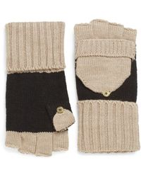 Calvin Klein Flip-top Convertible Knit Gloves - Lyst