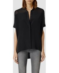 AllSaints Fleet Shirt - Lyst