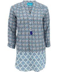 Basta Surf - Long Sleeve Half Button Print Tunic - Lyst
