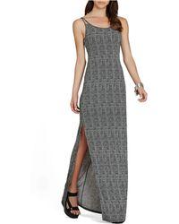 BCBGeneration Graphic-Print Maxi Dress - Lyst