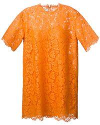 Valentino Lace Shift Dress - Lyst