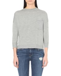 FRAME - Le Boyfriend Boxy Wool And Cashmere-blend Jumper - Lyst