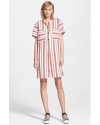 Creatures of the Wind 'Danae' Stripe Cotton Linen Shirtdress - Lyst