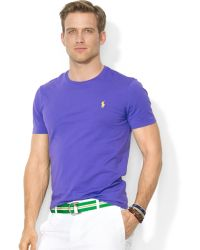 Ralph Lauren Polo Customfit Cotton Jersey Crewneck Tshirt - Lyst
