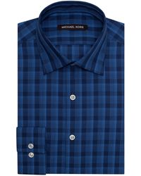 Michael Kors Classic Fit Fancy Plaid Dress Shirt - Lyst