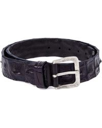 Scunzani Ivo - Crocodile Leather Belt - Lyst