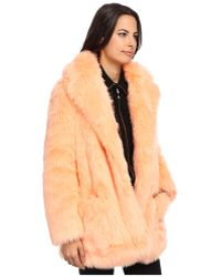 See By Chloé Hairy Fur Coat - Lyst