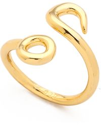 Giles & Brother - Hook Bypass Ring - Gold - Lyst