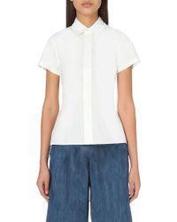 Miharayasuhiro - Pleated Cotton Shirt - Lyst