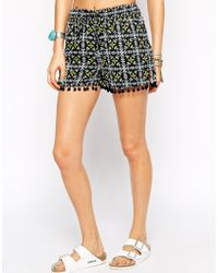 Warehouse - Tile Print Shorts - Lyst