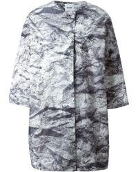 Moschino Cheap & Chic Three Quarter Sleeve Coat - Lyst