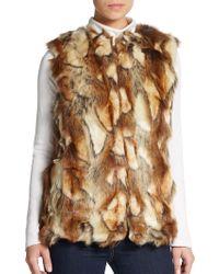 Sam Edelman Patchwork Faux Fur Vest - Lyst