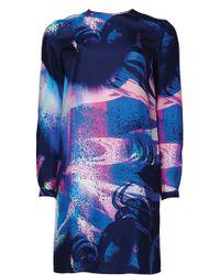 Matthew Williamson Marble Rainbow Silk Shift Dress - Lyst