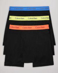 Calvin Klein Classic Boxer Briefs, 3 Pack black - Lyst