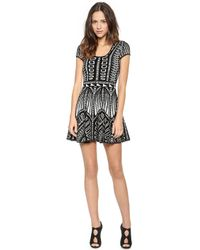 Torn By Ronny Kobo Vivienne Jacquard Dress  Blackivory Combo - Lyst