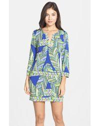 Trina Turk 'Rocio' Print Jersey Tunic Dress - Lyst