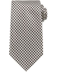 Tom Ford Wide Check Woven Tie - Lyst
