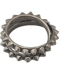 Tom Binns - Double Pyramid Stud Ring - Lyst