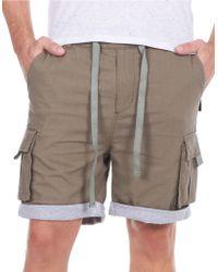 William Rast - Linen-blend Roll-cuff Shorts - Lyst