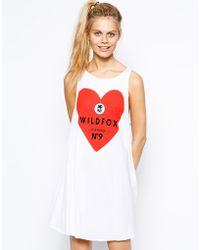 Wildfox Tank Dress with Heart Logo - Lyst