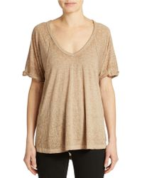 Free People Free Falling V Neck Tee - Lyst