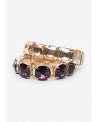 Bebe - Large Crystal Bracelet Set - Lyst