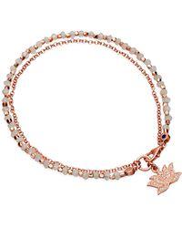 Astley Clarke Moonstone Lotus Friendship Bracelet - Lyst