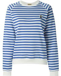 Peter Jensen Horizontal Stripe Sweatshirt - Lyst