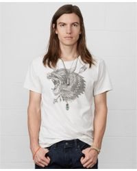 Denim & Supply Ralph Lauren Wolf-print Cotton T-shirt - Lyst