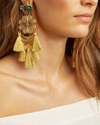Mercedes Salazar Fiesta Chandelier Earrings: Gold - Metallic