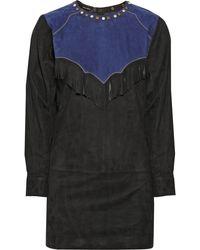 Isabel Marant Oklyne Embellished Suede Mini Dress - Lyst