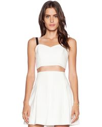 Milly Cady Crop Bustier Top - Lyst
