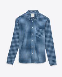 Billy Reid Walland Shirt blue - Lyst