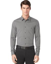 Calvin Klein Regular Fit Fine Line Dobby Shirt - Lyst
